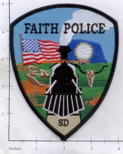 South Dakota - Faith SD Police Dept Patch Flag Train