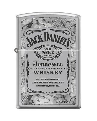 Zippo 0042, Jack Daniels Tennessee Whiskey, Fusion, High Polish Chrome Lighter