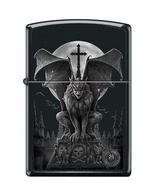Zippo 6570, Anne Stokes-Gargoyle, Black Matte Finish Lighter