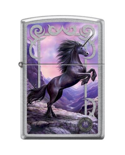 """Zippo 6565,   """"Anne Stokes-Unicorn"""" Street Chrome Lighter"""