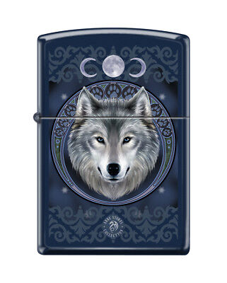 Zippo 5175, Anne Stokes-Wolf & Moons, Royal Blue Matte Finish Lighter