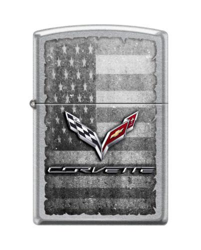 "Zippo 8956,   ""Chevy Corvette Logo-Americana"" Street Chrome Finish Lighter"