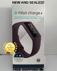 NEW! Fitbit Charge 4 Fitness and Activity Tracker w/ GPS Rosewood Small / Large
