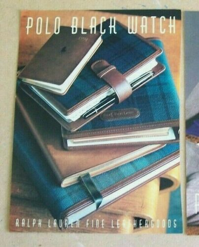 Ralph Lauren Polo Black Watch Leather Goods 1993 Ad Original/Magazine/Print