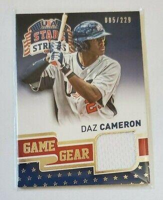 Daz Cameron 2015 USA Baseball Stars & Stripes Game Gear SN 85/229 Jersey Card