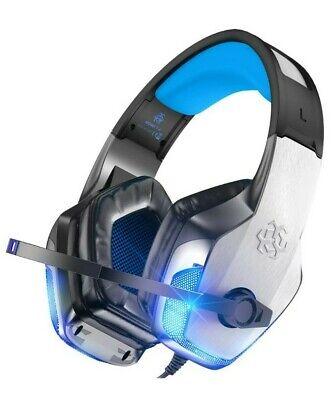 BENGOO V-4 Gaming Headset Noise Cancelling Mic Over Ear Headphones. Blue