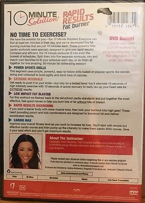 10 Minute Solution: Rapid Results Fat Burner (DVD, 2010) Exercise Fitness