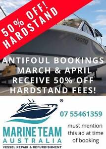 50% OFF HARDSTAND FEES - ANTIFOUL SPECIAL OFFER MARCH/APRIL Brisbane Region Preview