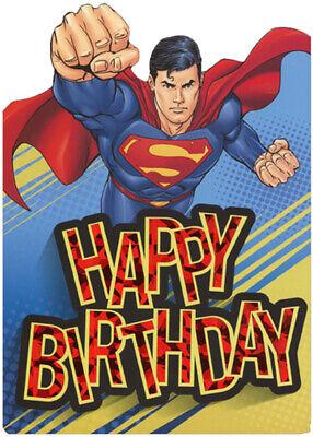 Superman Flying Die Cut Foil Superhero Paper House Birthday Card For (Die Cut Birthday Card)