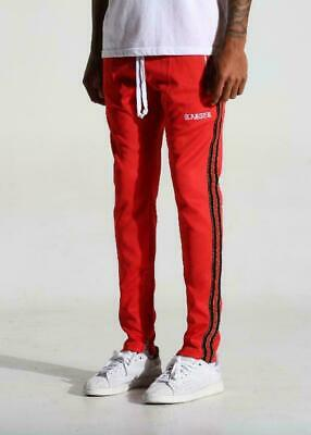 Athletic Track Pants (Karter Collection Mosley Track Pants Glitter Infrared Athletic Fashion Pant NWT)