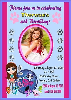 LITTLEST PET SHOP CUSTOM PRINTABLE BIRTHDAY PARTY INVITATION & FREE THANK U CARD