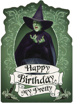 Wicked Witch Sparkling Green Die Cut Glitter Wizard of Oz Birthday Card For Her](Glitter Birthday)