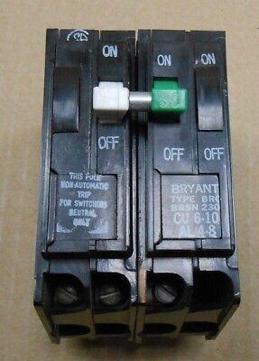 1 New Bryant Bro Brsn230 Circuit Breaker 30a 30 Amp 2p 2 Pole 240v 240 Volt