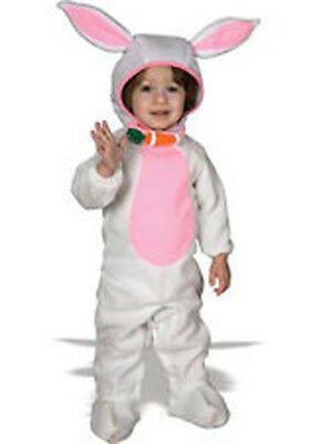 Halloween Costume Infant Baby Cute as a Bunny Rabbit 6-12m plush suit NWT ()