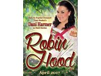 """Family Ticket 4 Easter Pantomime """"Robin Hood"""" Blackpool Opera House 6th April FRONT ROW SEATS"""