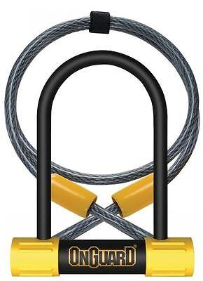 OnGuard Bulldog Mini DT U-Lock with 4-Feet Cinch Loop Cable