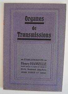 Catalogue éts Henry HAMELLE à Paris Organes de Transmissions pour l'industrie - France - Reliure: Couverture souple Langue: Franais Thme: Référence - France