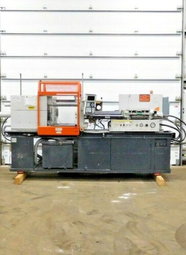 CE-1005, DEMAG D100-182 NCIII INJECTION MOLDING MACHINE. 100 TON.