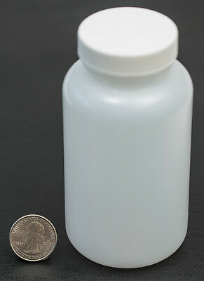 8oz 240ml Wide Mouth Hdpe Bottle Jar With White Polyethylene Lined Cap Lot Of 12