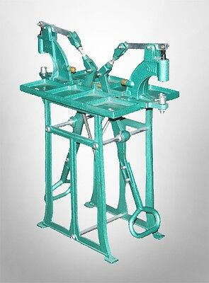 Two Station Grommet Snap Press Machine With Foot Press Stand Twice As Fast