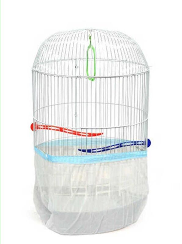 Lot Of 10 Seed Catcher Cylinder Bird Cage Pocket Style Guard Tulle Wholesale