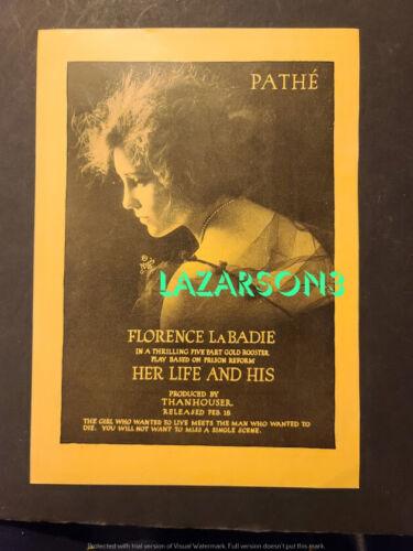 PEARL WHITE  FLORENCE LA BADIE THANHOUSER PATHE 2-SIDED TRADE AD 1917