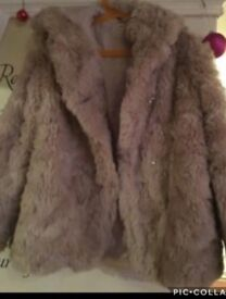 M&S fur girls coat 9-10 years
