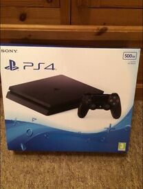 PS4 (Playstation 4) 500gb Jet Black console