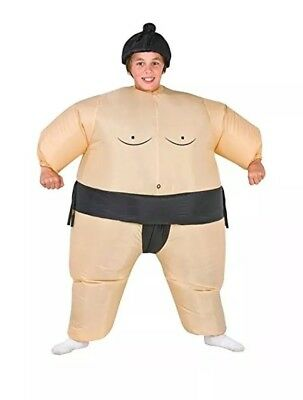 TOLOCO Inflatable Kids Sumo Wrestler Wrestling Suits Halloween Costume](Child Sumo Wrestler Halloween Costume)
