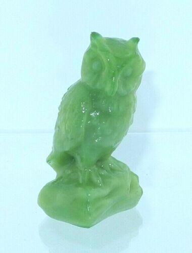 Boyd Glass Owl Applemint Slag #152 2003