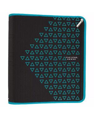 Five Star 2 Zipper Binder Ring Binder Xpanz Blue Black 380 Sheet New 13x12