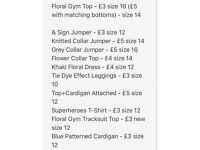 Women's Clothes Size 10-16