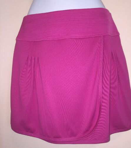 NEW! Bolle SZ S Small High Performance Tennis Skirt Skort Hot Pink Faux Wrap