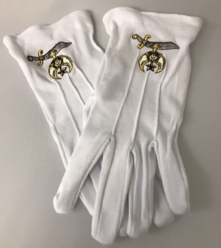 SHRINERS NOBLE EMBROIDERED DRESS GLOVES