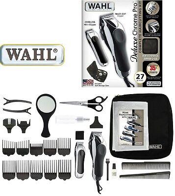 Wahl Chrom Pro Deluxe Haarschneider Bartschneider Haarschneidemaschine, 42606