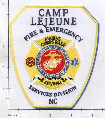North Carolina - Camp LeJeune Fire & Emergency Services NC Fire Dept Patch USMC
