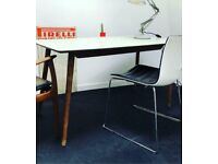 1960s Formica Kitchen / Dining Table white/green