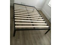Double platform bed with mattress