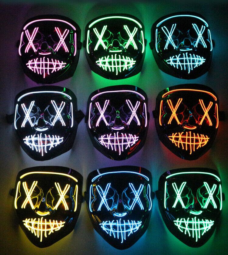 LED Maske - Halloween / Fasching karneval/ Party / Purge