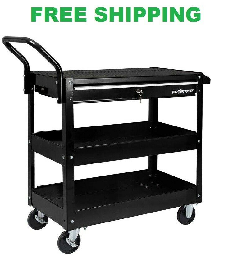 Utility Cart Drawer Storage Container Plastic Durable Heavy