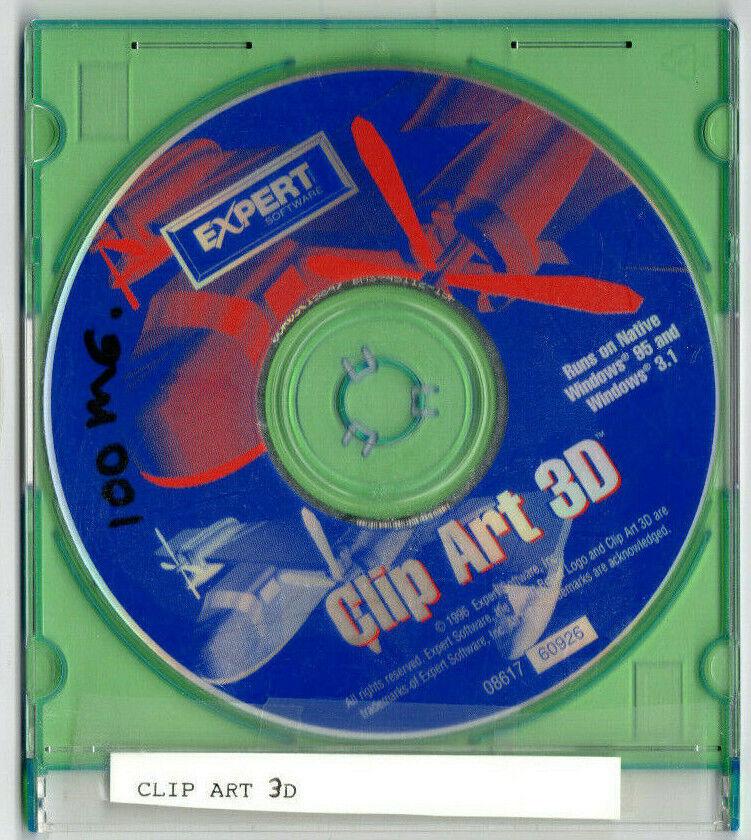 Clip Art 3D (PC, 1996, Expert Software)