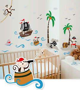 Wandtattoo pirat wandtattoos wandbilder ebay for Piraten deko kinderzimmer