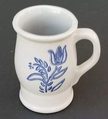 PFALTZGRAFF YORKTOWNE BLUE TULIP BARREL MUG STEIN FOOTED MUG COFFEE CUP Blue Barrel Mug