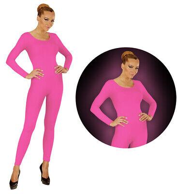 Neon Bodysuit Party Dance Kostüm Karneval Pink Gr. - Rosa Bodysuit Kostüm