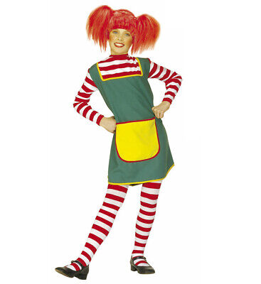 COSTUME VESTITO PIPPI CALZELUNGHE NAUGHTY GIRL TG. 8/10 ANNI WIDMANN CARNEVALE