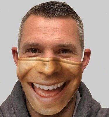 Mundschutz Lustige Maske Lachen Lächeln lustiges gute Laune Motiv