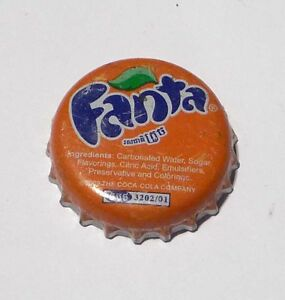 FANTA-ORANGE-Soda-Bottle-Cap-Crown-CAMBODIA-2011-Asia-Metal