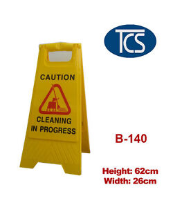 Sign-Stand-CLEANING-IN-PROGRESS-A-FRAME-Yellow-63cm-High-Plastic