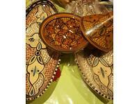 2 x Moroccan platters plus 1 x glazed tagine