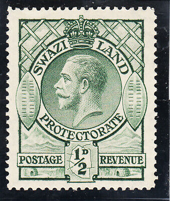 Swaziland Protectorate 1933.  1/2d George V.  MNH